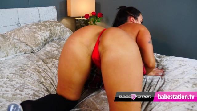 Babestation college girl Athena Rose sexy stripping 18