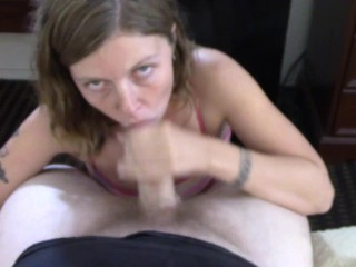 Teen fitted for anal vibrator fucks sucks and chokes on huge older cock – Lavender joy