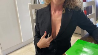 Sexy Busty Insurance Agent Gets Fucked To Sell A Policy