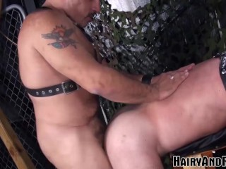 Hairyandraw older hairy gay raw ass drilled after...