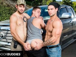 Nextdoorbuddies muscle hitchhiker...