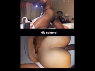 Booty taking black dick from boyfriend...