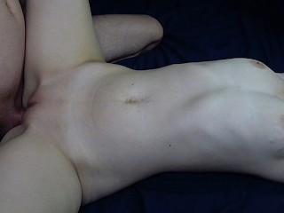 Sensual tits massage and missionary sex creampie
