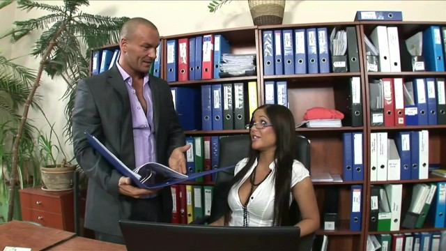 Wonderful Secretary Hot Tight Pussy Brunette Babe gets fucked anal by Big Dick Boss in workplace 9