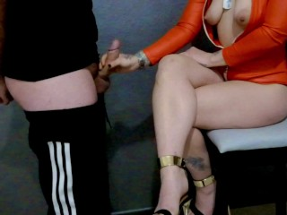 Mistress in ruined twice orgasm making on her...