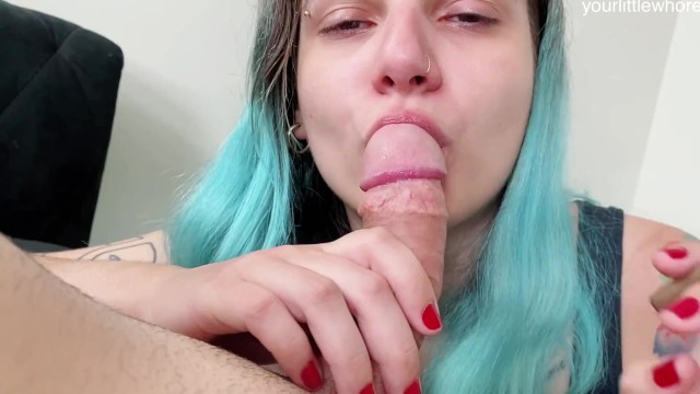 smoking, blowjob and cum in mouth 420 8