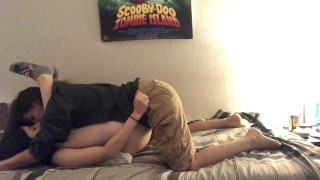 Young Lesbian Fucks Girlfriend With Strapon