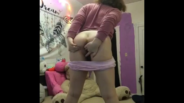 Cute white girl bends over 15