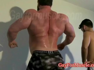 Giant muscle god walking provoking an earthquake lol...