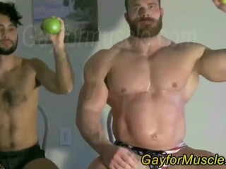 Giant tall bodybuilder dominating...