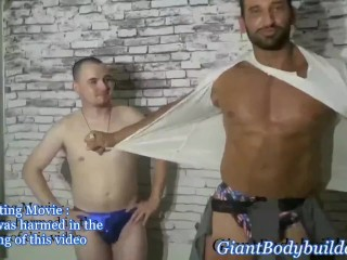 Christian power amazing muscle beast training with his...