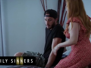 FamilySinners – Dude Gets Caught By His Step Aunt Jerking Off While sniffing Her Panties