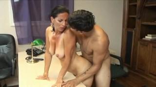 Sexy 70yo secretary loves 20yo boss