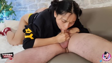 June Liu 刘玥 / SpicyGum - Asian Girl Fucking a Geek / Deepthroat / Riding / LONG V / FREE FOR FANS