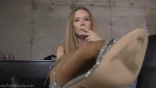Foot Fucked By Your Wife - Star Nine Pantyhose Domination Foot Worship TRAILER
