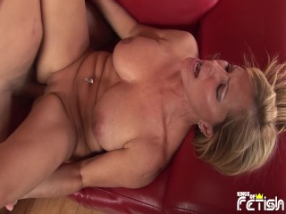 Horny husband cum on his wife belly after...