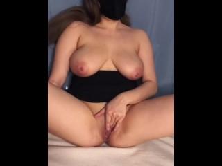 hottest tiktok ever [ big natural tits, dildo riding ]