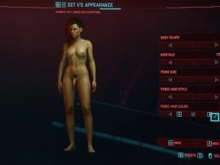 Cyberpunk 2077 female character penis shemale...