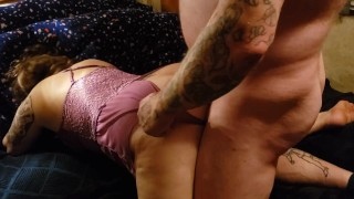 Fucking the house keeper from behind after she did her chores