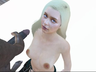 3 animation daenerys targaryen blowjob facefuck deepthroat bbc...