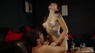 Tattooed Wife Adreena Winters Bounces Her Bubble Butt On Huge Cock