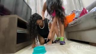 LONGPREVIEW KIFFA Cinderella Wicked stepmother Part 1 lesbian domination lesbian foot worship femdom