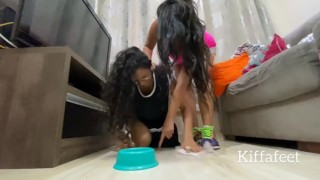 PREVIEW KIFFA Cinderella Wicked stepmother Part 1 lesbian domination lesbian foot worship femdom
