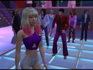 Public and group sex at a youth disco | Porno Game 3d