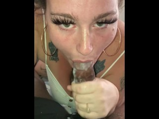 Sloppy White Bbw Deepthroat