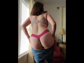 Quick undress and redress teaser beautiful...