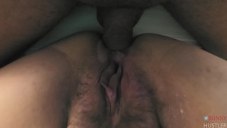 Hairy pussy milf fast anal creampie