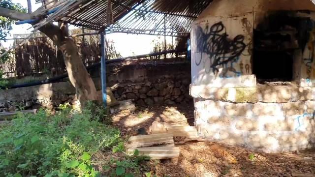 Shibari session at abandoned place 17