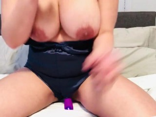 Playing with pussy while husband is at work
