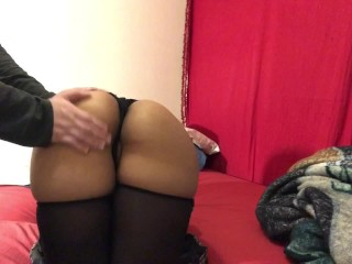 Watch Me Bend Over and Get Spanked! Rub My Pussy!