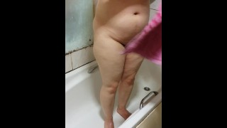 Step mom caught naked in the bathroom get fucked by step son