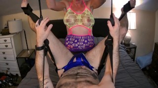 Sex Swing Pegging Husband leads to Cunnilingus Pussy Eating & Passionate Sex! FULL on ONLYFANS