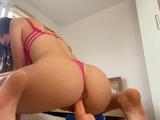 Daddys Girl hard ride on big dick- wet pussy want orgasm