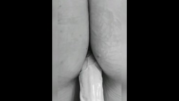 Big ass MILF bouncing her juicy pussy and ass on huge dildos. Who's next? - Stacey38G