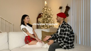christmas creampie – raw unedited sex tape with avery black – teen porn