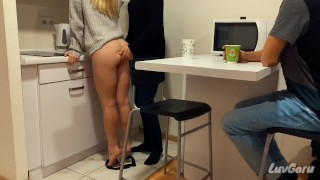I Paying Off Husbands Debts in Front of Him | Cuckold Cumkiss