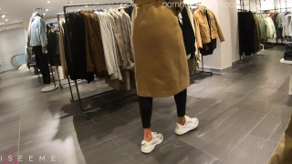 Risky quick sex in the fitting room - ISEEME BAE