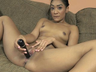 ChickPass - Naughty coed Sarah Lace puts on a show with her toy