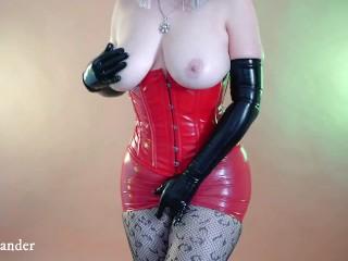Sexual gloves Latex Rubber Fetish Video, Arya Grander in fetish clothing
