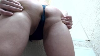 girl dancing striptease while parents are not at home