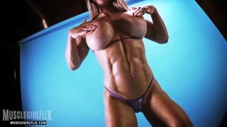 Muscle Girl Massive Fake Tits