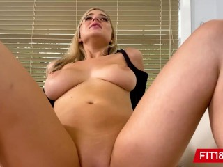 FIT18 – Blake Blossom Returns For 2nd Casting Showing Off Her Big Natural Breasts And Thicc Body