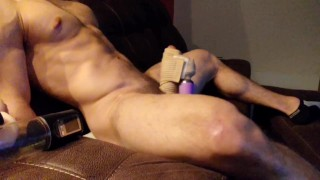 Powerful Vibrator ( Hitachi Wand ) gives Straight guy a Wonderful Unwanted self Facial
