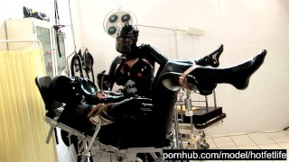 Heavy Rubber Latex Piss Fetish - Blowjob Handjob Femdom - Catheter Treatment - Part 1