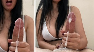 Unreal massive cumshots - 2 ruined orgasms (how can he cum so much?)