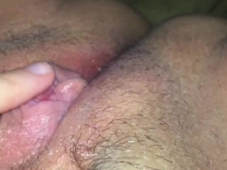 Watch my Clit PULSE as I Cum!! Ultra Close-Up on My Sticky Wet Pussy